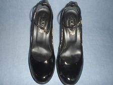 AUTH TOD'S PATENT LEATHER ANKLE STRAP PUMPS SIZE 5