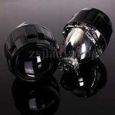 "Pair Car 2.5"" HID Bi-xenon Projector lens Kit Headlight Bulb Shroud H1 H4 H7 RHD"