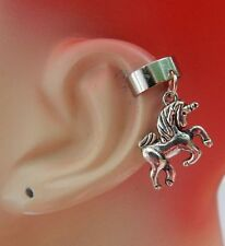Silver Unicorn Charm Drop/Dangle Ear Cuff Handmade Jewelry Accessories NEW