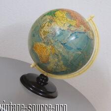 alter Poitischer Räths Erdglobus Weltkugel Ø 33 cm auf Bakelit Fuß 50er Jahre