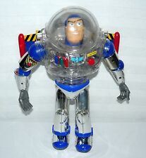 DISNEY THINKWAY TOYS TALKING BUZZ LIGHTYEAR CLEAR BODY SUIT LIGHTS