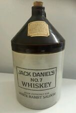 Jack Daniels White Rabbit Saloon One Gallon Crock Whiskey Jug