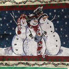 Kirklands Christmas Snowmen Table Runner Tapestry 71 in Snowmen - new