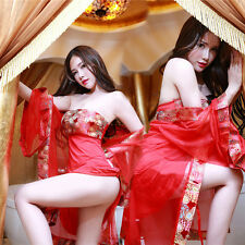 Women Sexy Lingerie Sleepwear Babydoll Nightwear Chinese Classical Queen Uniform