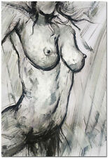 Female Nude - Genuine Hand Painted Modern Figurative Oil Painting On Canvas