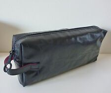 MAC Makeup Cosmetics Bag in Black Faux Patent Leather, Large Size, Brand NEW!