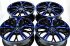 17 blue Wheels Rims Accord Fusion Eclipse Civic PT Cruiser Corolla 5x100 5x114.3