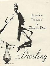 """Publicité Advertising 1963  ( René Gruau ) Parfum pour femme """"nouveau"""""""