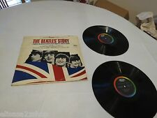 The Beatles Story Beatles' STBO 2222 biography 2 LP Album RARE Record vinyl