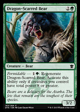 MTG 4x DRAGON-SCARRED BEAR - ORSA SFREGIATA DAL DRAGO - DTK - MAGIC