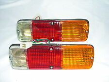 TOYOTA HILUX PAIR OF TAIL LIGHTS FOR DROPSIDE TRAYS, SQUARE 4 PIN PLUG TYPE