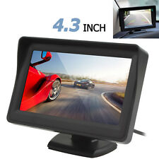 4.3Inch LCD Sunshade Car RearView Monitor 2-CH Video Input DVD VCR Monitor DC12V
