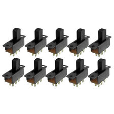 10 Pcs 6 Pins 2 Positions DPDT On/On Mini Slide Switch AD