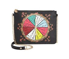 "NWT Betsey Johnson ""Spinner Spinner"" Black Multi Shoulder Bag HIGHLY COLLECTABLE"