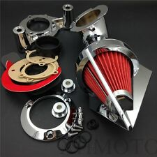Air Cleaner Kit For 2008-2012 Harley Dyna Electra Glide Flhx Road King Chrome