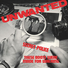 """The Unwanted - Secret Police/These Boots Were.. (limited blue vinyl 7"""") *PUNK*"""
