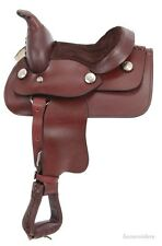 8 Inch Miniature Horse Western Saddle - Dark Oil Smooth Leather - King Series
