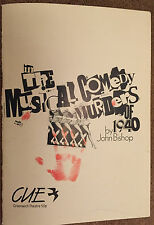 1988 GREENWICH THEATRE PROGRAMME PLUS TKT: THE MUSICAL COMEDY MURDERS OF 1940