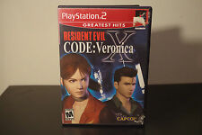 Resident Evil -- CODE: Veronica X (Sony PlayStation 2, 2002) *Tested