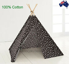 Aus Qlty Boys/Girls TeePee Tee Pee Pop Up Play Tent/Cubby-Indoor/Outdoor/Foldabl