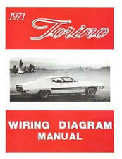 1971 FORD FAIRLANE TORINO RANCHERO WIRING DIAGRAMS SCHEMATICS MANUAL NICE NEW