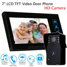 "7"" Video Door Bell Phone Camera + Monitor For Villa Home Office System Intercom"