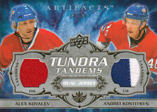 08-09 Artifacts TUNDRA TANDEMS xx/50 Made! KOVALEV and KOSTITSYN - Canadiens