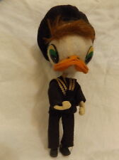 """Antique DUCK SAILOR Hand made Doll 7.5"""" Israel"""