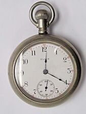 Antique Elgin  57 mm, Silverode Pocket Watch Movement and Case 15 jewels.