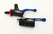 ASV C6 Shorty Blue Pro Pack Unbreakable Folding Brake + Clutch Levers Kit DRZ