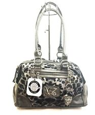 KATHY Van Zeeland Animal House Satchel Charcoal Leopard