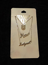 3 silver tone Katy Perry necklaces Prism Katy cat Meow kitty Pop Culture Music