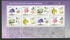 2016 MNH STAMP sheet  URUGUAY flowered trees native flora forest seed fruits
