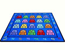 Educational Rug For Schools - DayCare -Kids Room. 5' X 8' SILLY SEATS