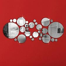 Acrylic Mirror Circles Wall Decal DIY Art Sticker Decals Home Mural Decoration