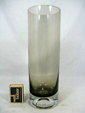 Cylindrical 60´s west german Emil Funke design GRAL glass vase 25 cm 844  Gramm