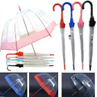 "29"" Dome Shape Umbrella Clear Transparent Rain Protection Accessory For All Year"