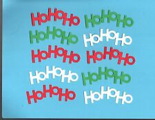 Ho Ho Ho Word Die Cuts - Cricut Die Cuts - Christmas Die Cuts .