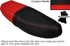 BLACK & RED CUSTOM FITS HONDA C90 CUB SQUARE LIGHT MODEL DUAL LEATHER SEAT COVER