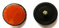 VINTAGE BICYCLE REAR MUDGUARD Orange ROUND REFLECTORS BIKE CYCLE CLASSIC- 1Pcs