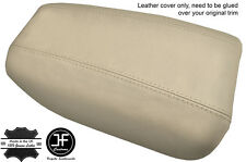 BEIGE REAL LEATHER ARMREST COVER FITS VOLVO S80 1999-2006