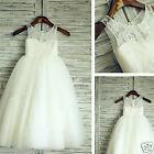 Formal Lace Baby Princess Bridesmaid Flower Girl Dresses Wedding Party Dresses~