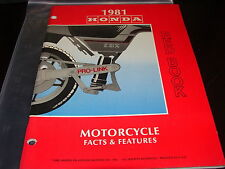 Vintage Honda OEM Motorcycle Facts & Features Red Book Manual