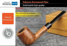 HI QUALITY Rosewood wood Tobacco Pipe Smoking Handmade Straight Mouthpiece 9mm