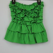 ABERCROMBIE KIDS GIRLS RUFFLE STRAPLESS TOP SIZE LARGE