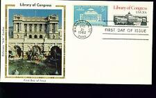 1982 FDC - Scott# 2004 COMBO - Library of Congress - Colorano Silk Cachet   UA