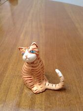 Orange Striped Tabby Cat Figurine - Fine Bone China