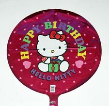 "HELLO KITTY SANRIO Bobcat Character Happy Birthday 18"" FOIL BALLOON SET 5 Pcs"