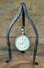 New Pocket Watch Stand Holder Display Hanger Hand Forged Iron Made in USA Unique