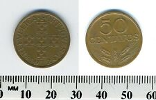 Portugal 1972 - 50 Centavos Bronze Coin - Circles within cross